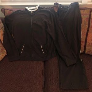 Style & Co Brown Active Jogging Suit Set Large